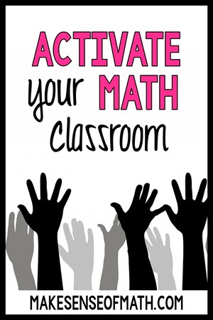 Activate your math classroom with hands raised