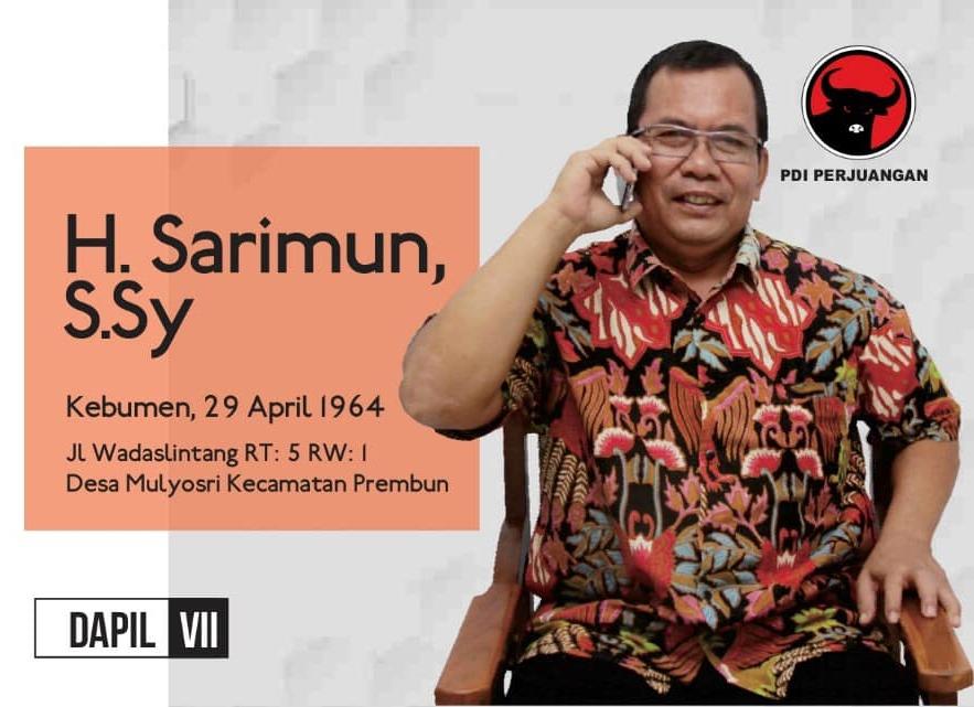 PDI Perjuangan Tunjuk Sarimun jadi Ketua DPRD Kebumen