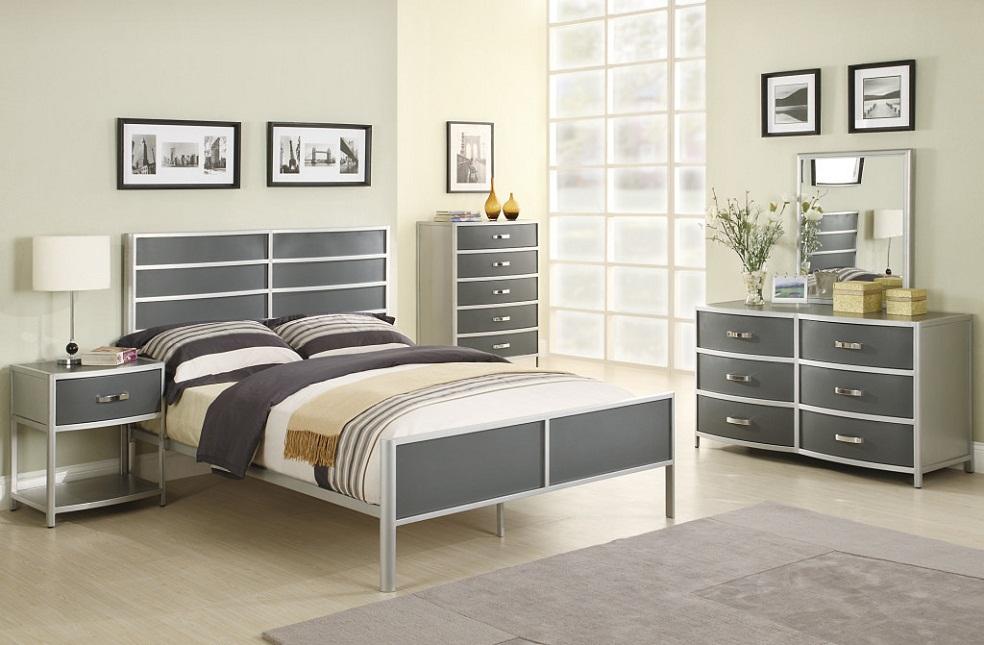 elegant silver bedroom furniture sets design