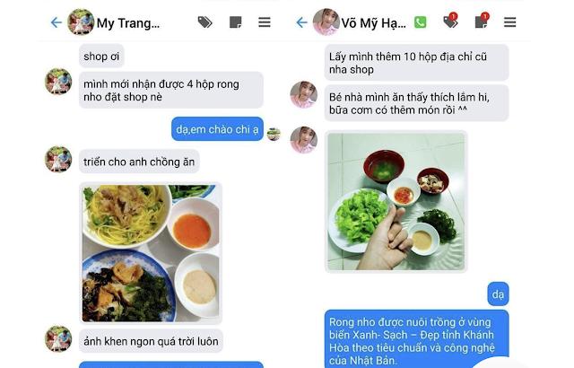 review rong nho tu khach hang