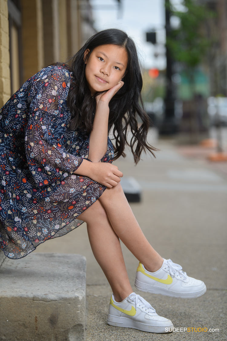 Birthday Portraits for Teenage Girl in Urban Downtown SudeepStudio.com Ann Arbor Family Portrait Photographer
