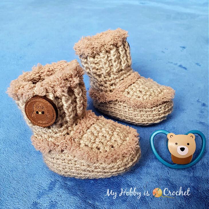 Crochet Baby Ianis Booties