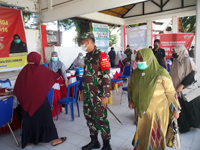 Memasuki Hari Ke - 6, Serbuan Vaksinasi Di Aceh Barat Terus Di Pantau Wakil Ketua 1 Satgas PPKM Mikro
