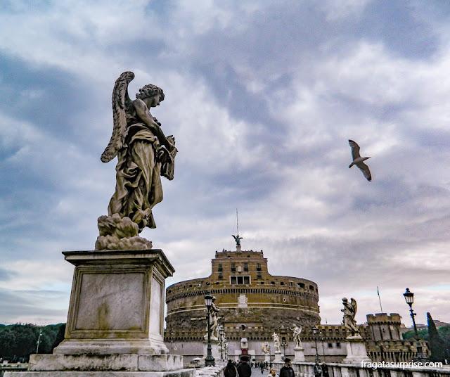 Roma - Itália - Ponte e Castelo de Sant'Angelo