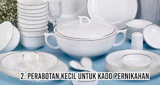 Perabotan kecil untuk Kado Pernikahan
