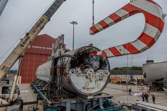 Se remplazaron los 4 motores diésel al Submarino BAP Chipana