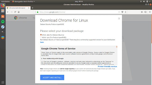 Como instalar o Google Chrome no Ubuntu