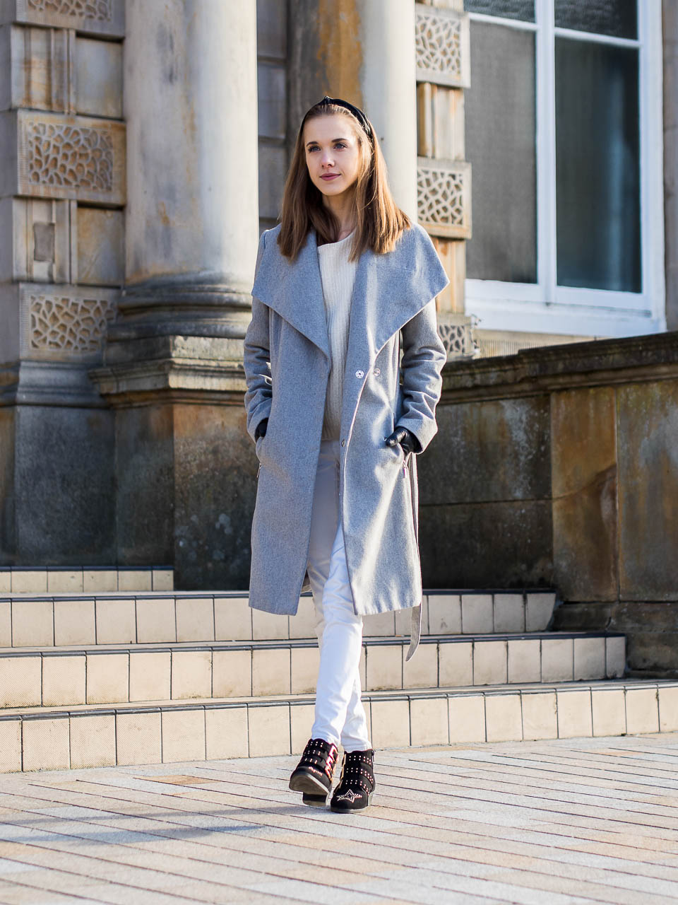 beating the winter blues and a white and grey winter outfit