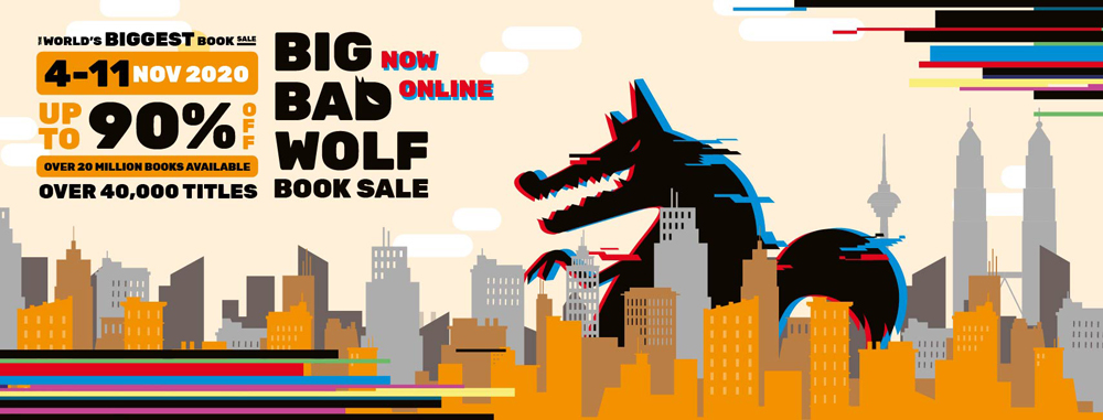 The World's Biggest Book Sale, the Big Bad Wolf Book Sale, goes Online this November