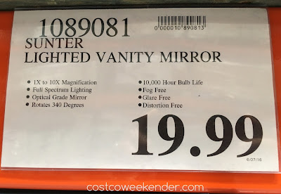 Deal for the Natural Daylight Vanity Mirror at Costco