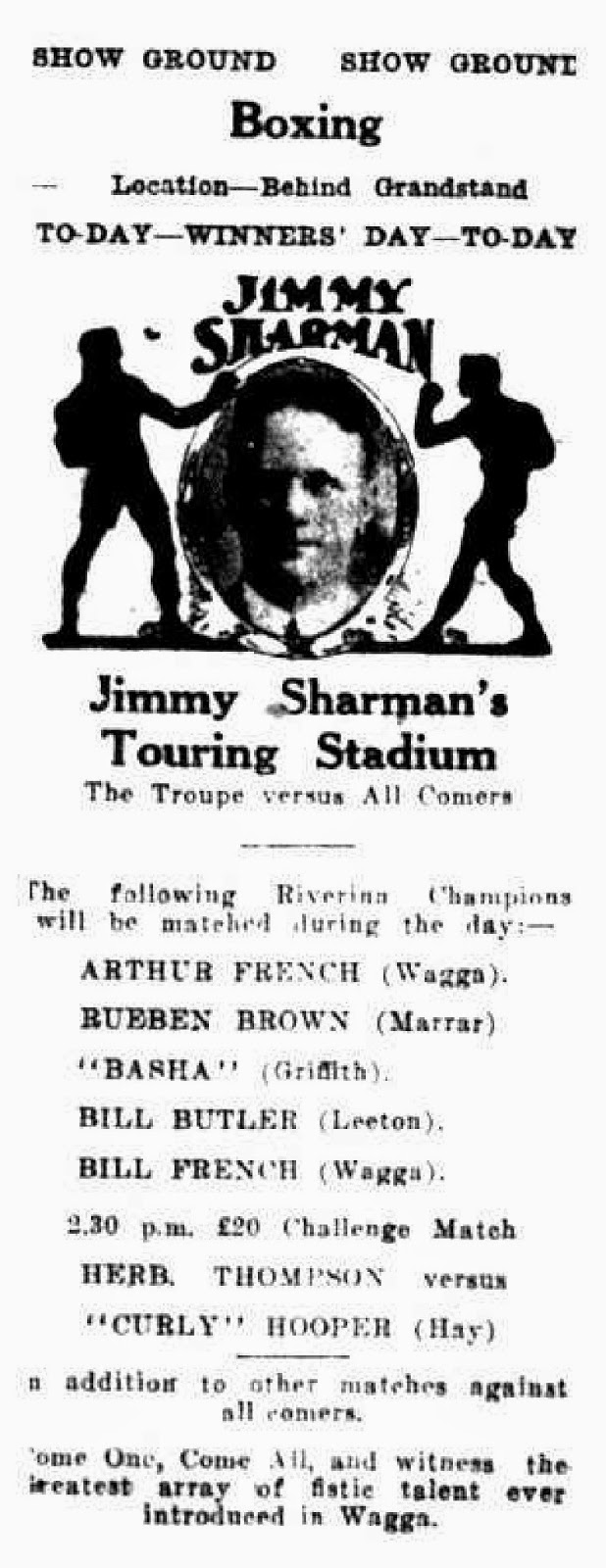 Memories of Wagga Wagga: SHOWTIME! 61st Annual Wagga Show