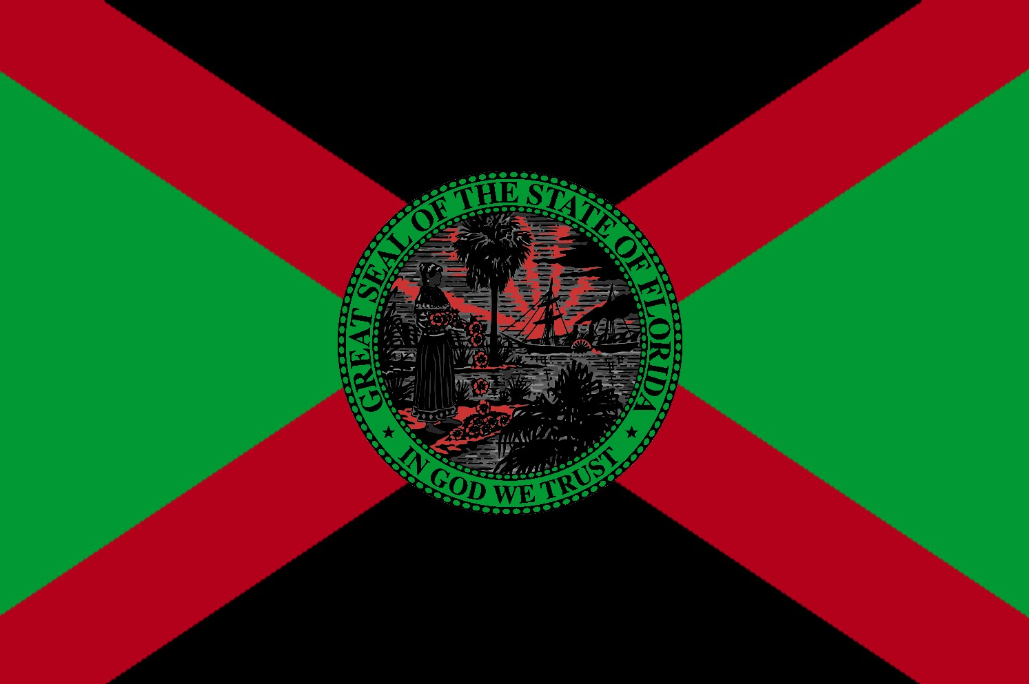 6d4e7472686 The African-American Florida flag is based upon the Africa-American flag