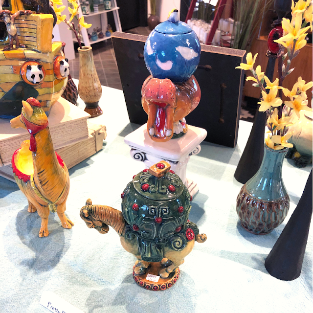 A few of my favorite Noah's Ark pieces at Epilogue -- they are adorable and you can store treasures inside!
