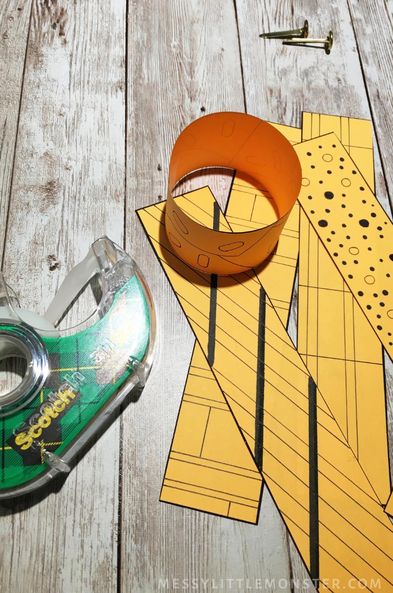 How to make a 3D pumpkin craft