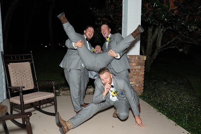 Goofy groomsmen Magnolia Manor Wedding Photos by Stuart Wedding Photographer Heather Houghton Photography