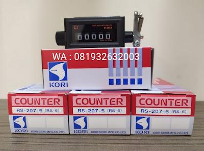Jual Kori Seiki Counter RS-207-5 (RS-5) Pengukur Waktu dan Penghitung Panel Listrik