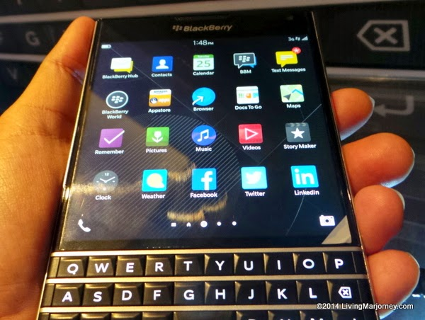 BlackBerry Passport via LivingMarjorney.com
