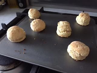 Horseradish scones