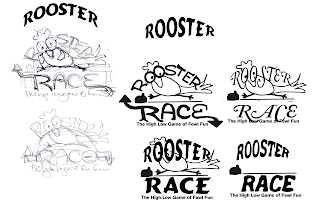 Final Rooster Race logo sketches  created by Imagine That! Design for client approval