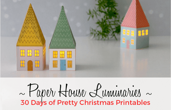 Paper House Luminaries for Christmas