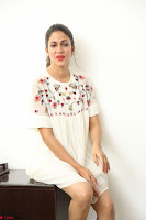 Lavanya Tripathi in Summer Style Spicy Short White Dress at her Interview  Exclusive 131.JPG
