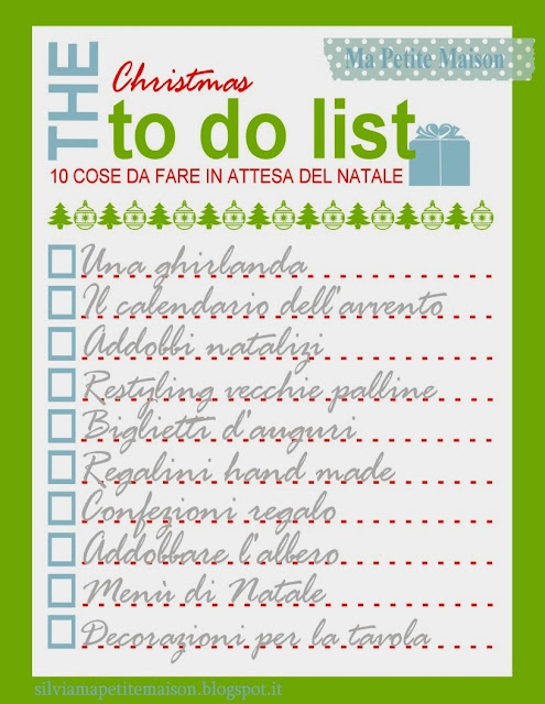 The Christmas to-do list, freebies