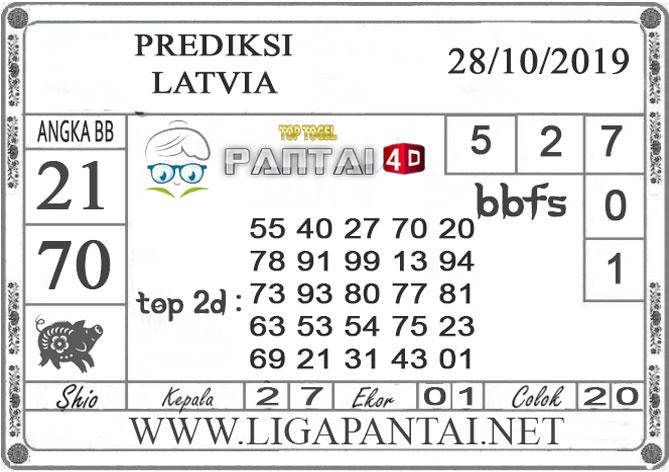 """PREDIKSI TOGEL """"LATVIA"""" PANTAI4D 29 OKTOBER 2019"""