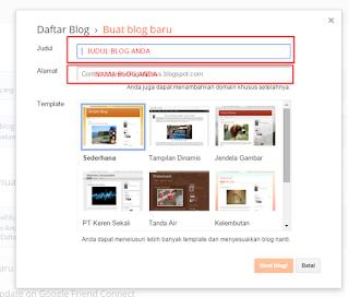 Cara Daftar dan Buat Blog Gratis di Blogger