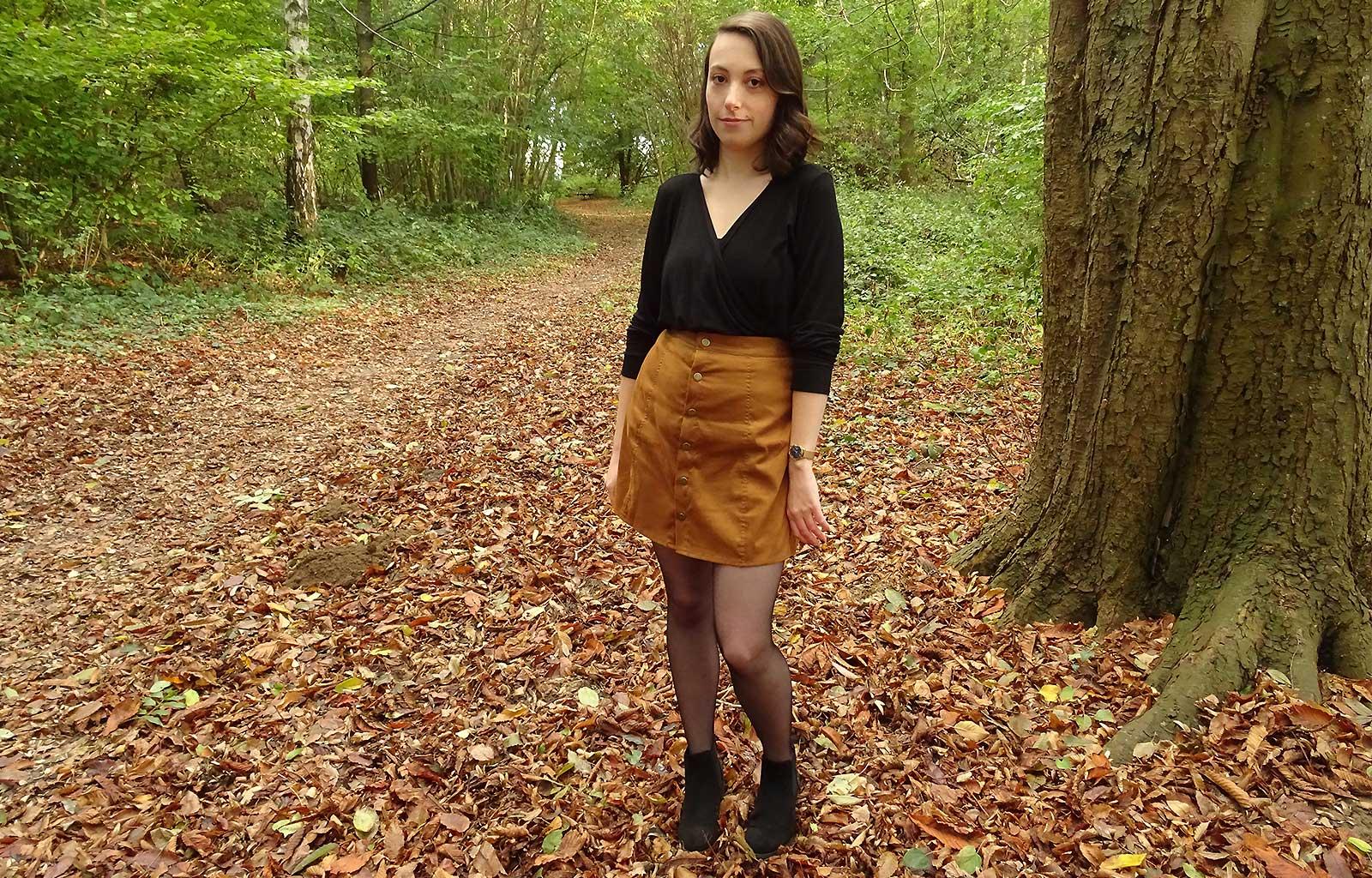 Look promenade forêt automne