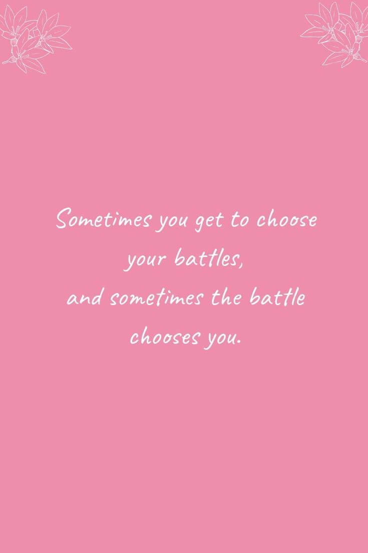Cervical Screening Could Save Your Life! | Sometimes you get to choose your battles...