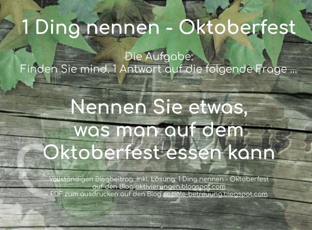 Rätsel für Senioren Oktoberfest, Gedächtnisübung, Wissen Oktoberfest