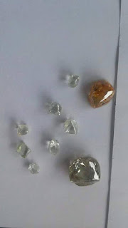 Diamantes brutos encontrados no estado do Mato Grosso