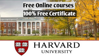 Harvard University Free Online Courses with Free Certificate