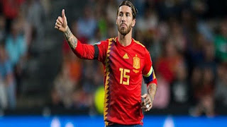 راموس في انتظار رقم قياسي جديد في مباراة إسبانيا والنرويج