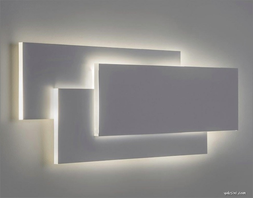 Lampu LED panel modern untuk dinding rumah minimalis
