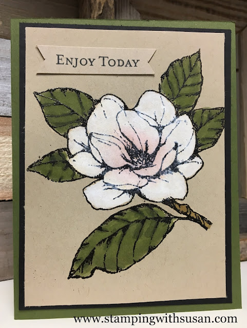 Stampin' Up!, Magnolia Lane, White Craft Ink, www.stampingwithsusan.com