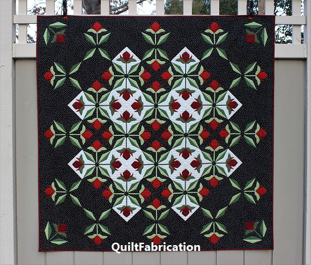 Mediterranean Rose quilt, light background