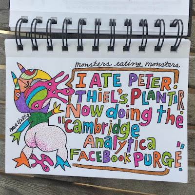 "I ate Peter Thiel's Plantir. Now doing the ""Cambridge Analytica Facebook Purge""."