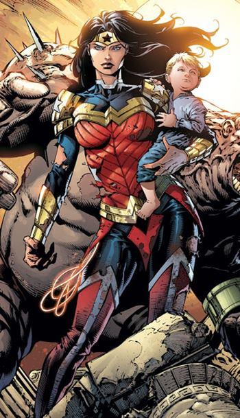Wonder Woman traje de batalla en cómics