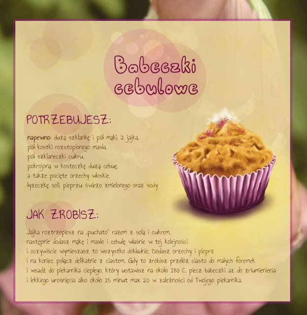 Muffins with onion and walnuts