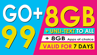 Globe Go+99 – new Go+ Promo with up to 16GB data for only 99 Pesos