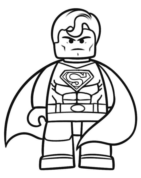 Superhero Lego - Free Colouring Pages