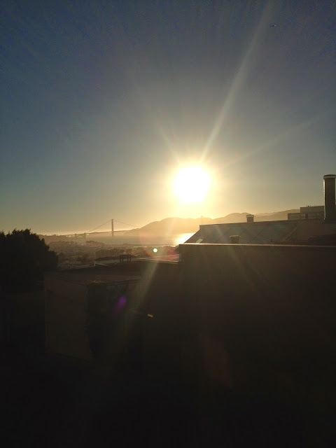 Sunset over Golden Gate Bridge, June 2014 by BK Mair