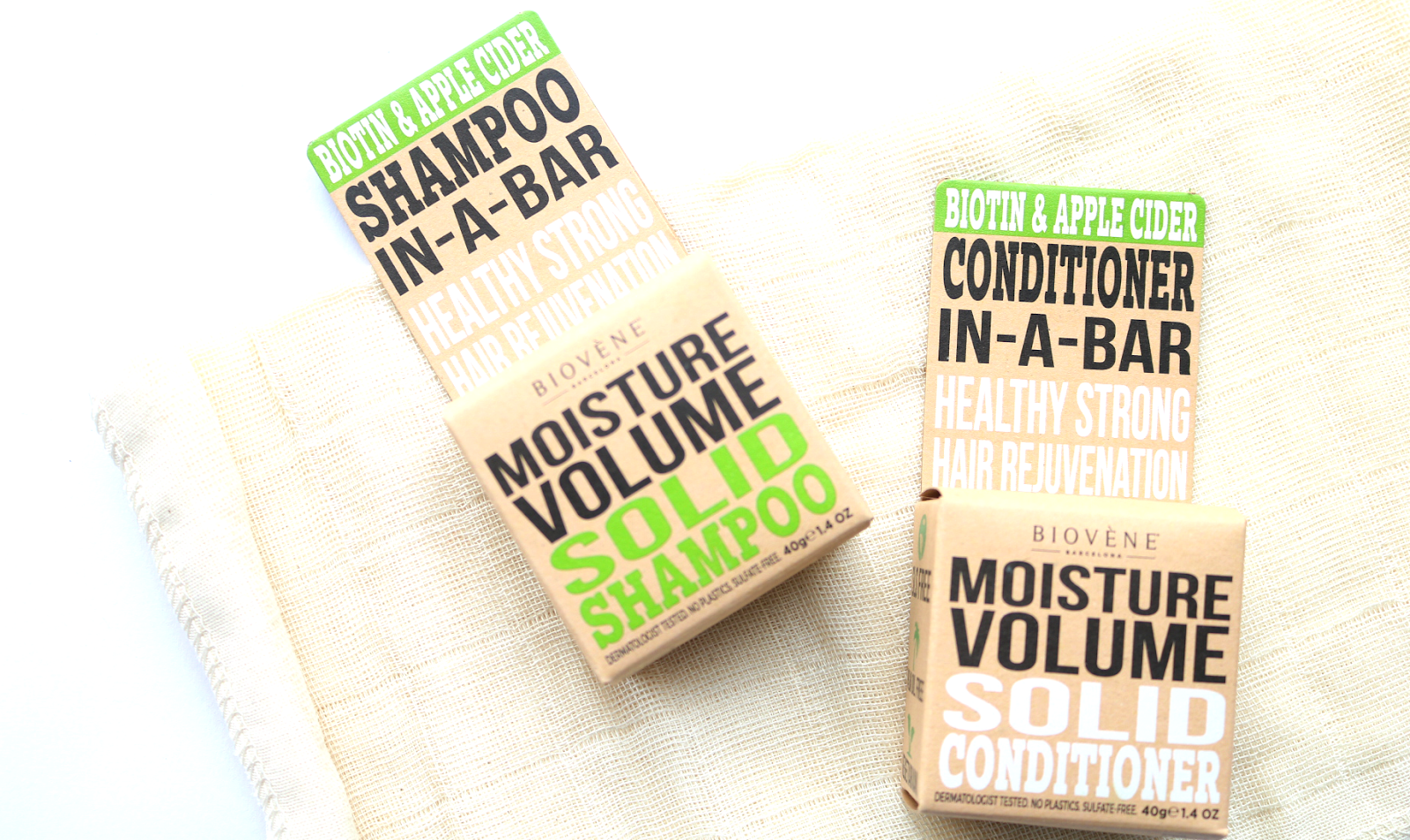 Biovène Barcelona Moisture Volume Solid Shampoo & Conditioner review
