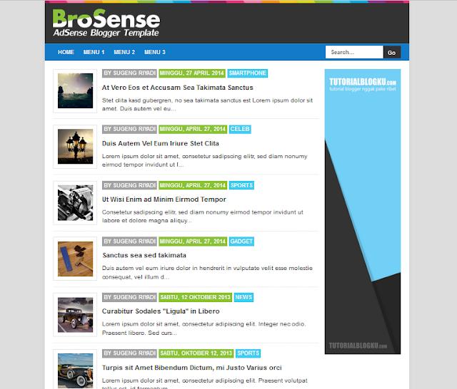 Free Blogger Template Responsive untuk Adsense