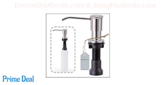 70%OFF Long On Hotel Stainless Steel Built In Soap Dispenser,Refill From The Top 17 oz Bottle