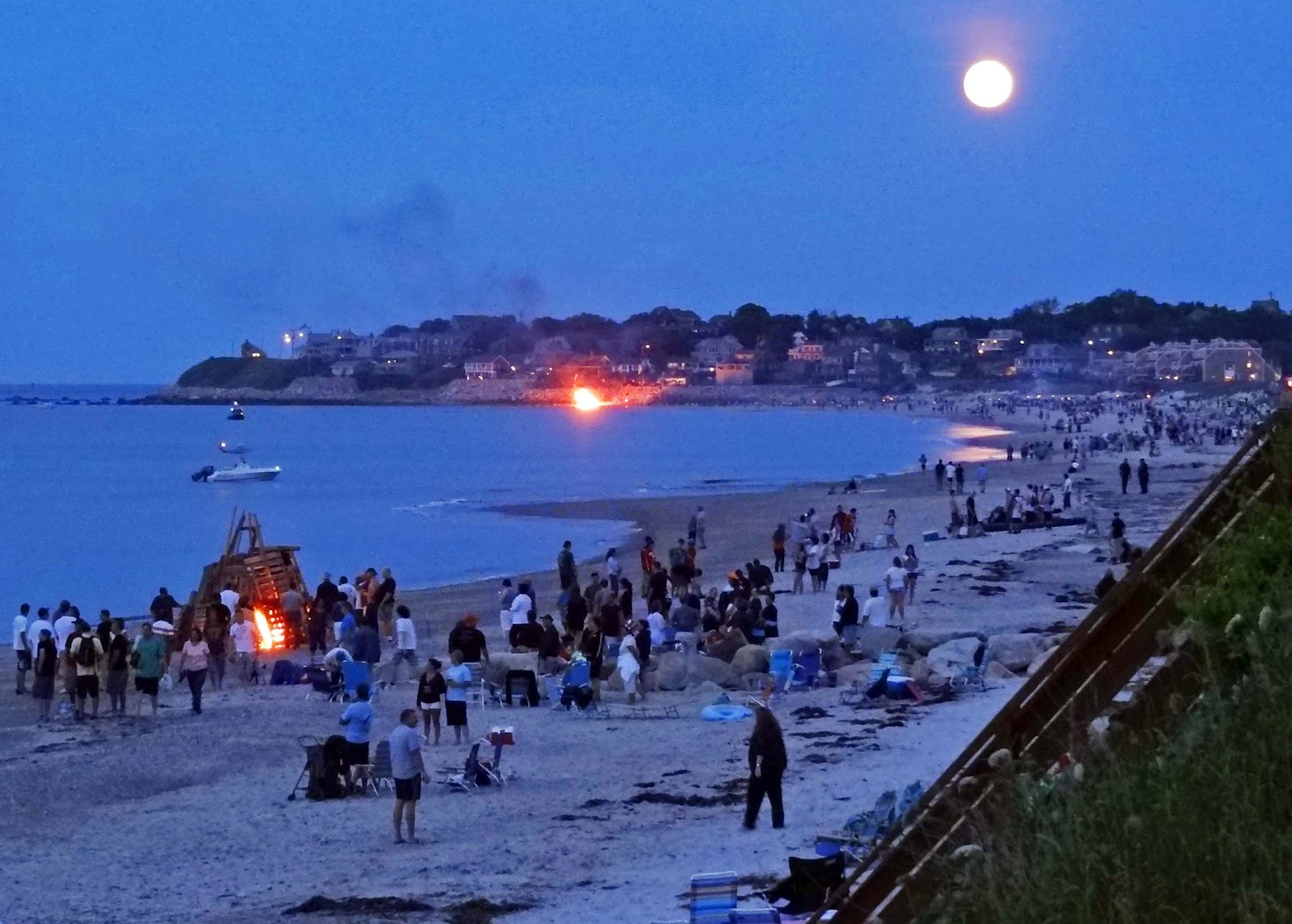 Bonfires And Fireworks White Horse Beach Manomet Plymouth Machusetts Usa