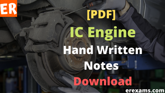Internal Combustion Engine Notes Pdf Free Download