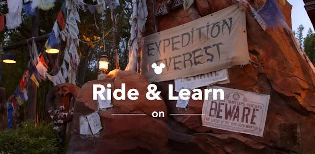 #DisneyMagicMoments, Ride & Learn, 在家登上 Expedition Everest 遊樂設施了解有趣知識, WDW, Walt Disney World Resort, Disney's Animal Kingdom