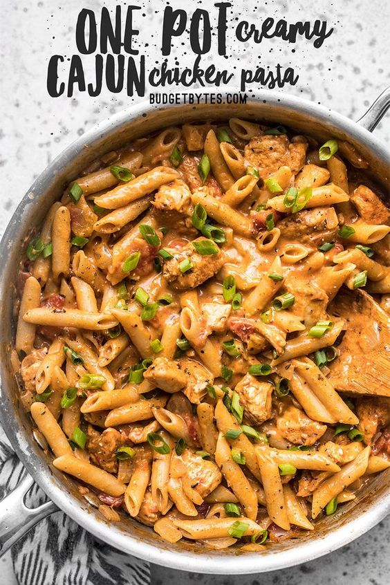 ONE POT CREAMY CAJUN CHICKEN PASTA #recipes #dinnerrecipes #quickdinnerrecipes #deliciousdinnerrecipes #quickanddeliciousdinnerrecipes #food #foodporn #healthy #yummy #instafood #foodie #delicious #dinner #breakfast #dessert #lunch #vegan #cake #eatclean #homemade #diet #healthyfood #cleaneating #foodstagram